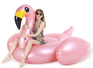Jasonwell Giant Inflatable Flamingo Pool Float with Fast Valves Summer Beach Swimming Pool Party Lou