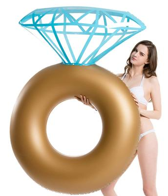 Jasonwell Inflatable Diamond Ring Pool Float - Engagement Ring Bachelorette Party Float Stagette Swi