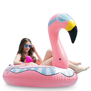 Jasonwell Flamingo Inflatable Snow Tube Pool Tube Float